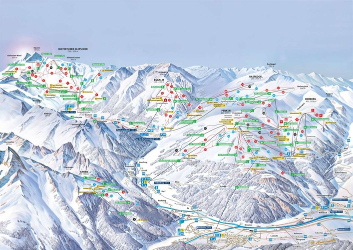 pistenplan ski gletscherwelt 3000