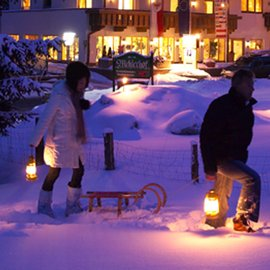 Romantik Bergland nacht winter