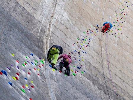 schlegeis Staumauer klettern