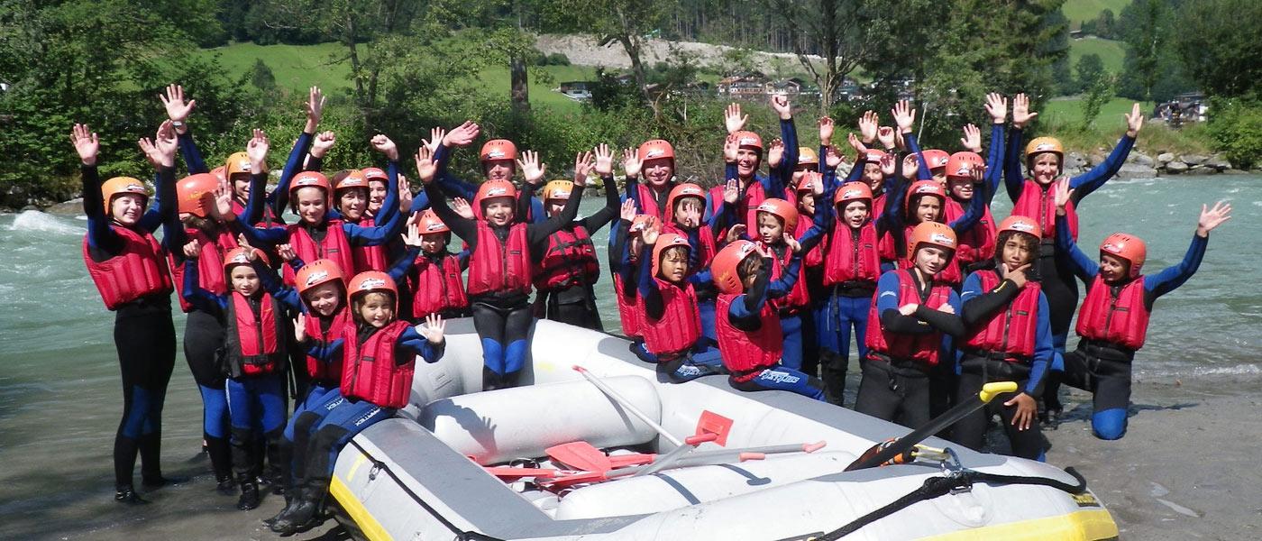familienurlaub kinder Rafting